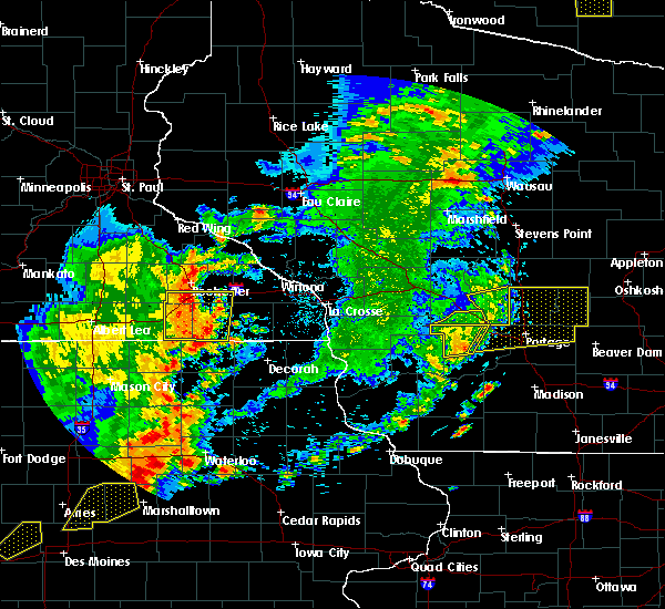 Radar Image for Severe Thunderstorms near Fountain, MN at 6/30/2018 6:58 PM CDT
