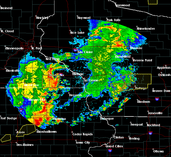 Radar Image for Severe Thunderstorms near Grand Marsh, WI at 6/30/2018 7:01 PM CDT