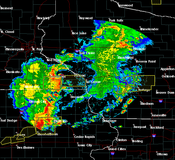 Radar Image for Severe Thunderstorms near Grand Marsh, WI at 6/30/2018 7:09 PM CDT