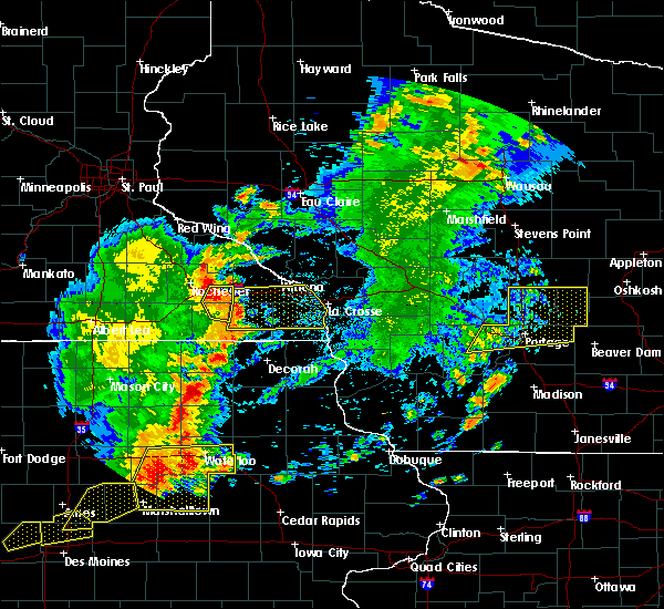 Radar Image for Severe Thunderstorms near Fountain, MN at 6/30/2018 7:18 PM CDT