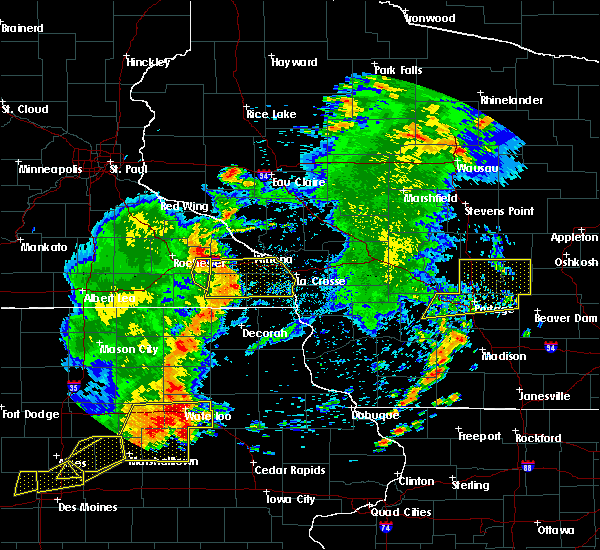 Radar Image for Severe Thunderstorms near Fountain, MN at 6/30/2018 7:30 PM CDT