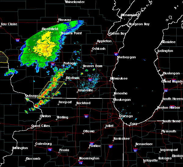 Radar Image for Severe Thunderstorms near Browntown, WI at 6/30/2018 7:43 PM CDT