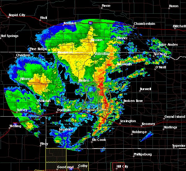 Radar Image for Severe Thunderstorms near Arnold, NE at 6/30/2018 8:42 PM CDT
