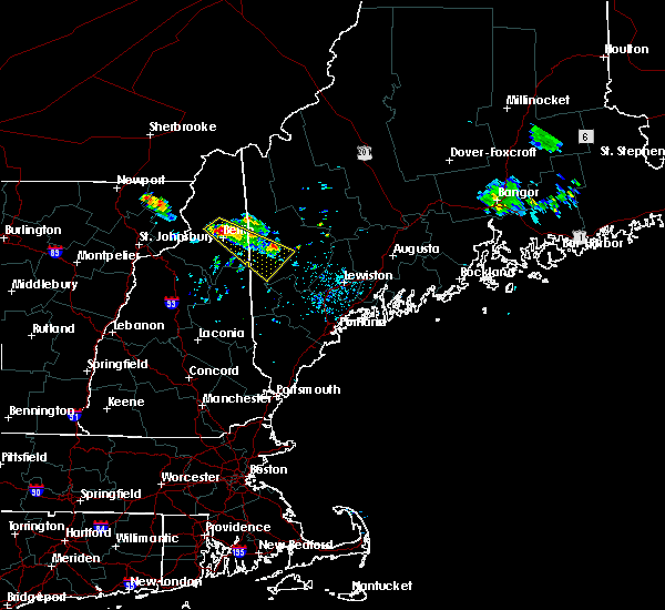 Radar Image for Severe Thunderstorms near Berlin, NH at 6/30/2018 10:20 PM EDT