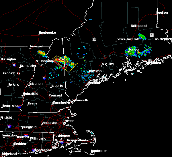 Radar Image for Severe Thunderstorms near Berlin, NH at 6/30/2018 10:25 PM EDT