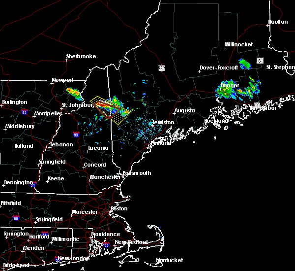 Radar Image for Severe Thunderstorms near Berlin, NH at 6/30/2018 10:32 PM EDT