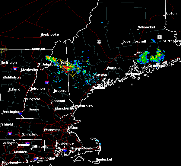 Radar Image for Severe Thunderstorms near Berlin, NH at 6/30/2018 10:50 PM EDT