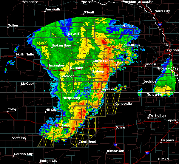 Radar Image for Severe Thunderstorms near Jamestown, KS at 6/30/2018 11:44 PM CDT