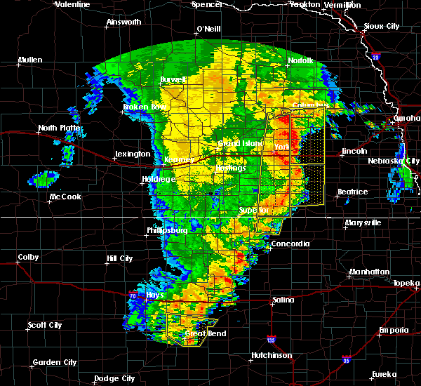 Radar Image for Severe Thunderstorms near Western, NE at 7/1/2018 12:24 AM CDT