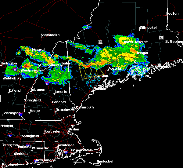 Radar Image for Severe Thunderstorms near Auburn, ME at 7/1/2018 3:07 AM EDT