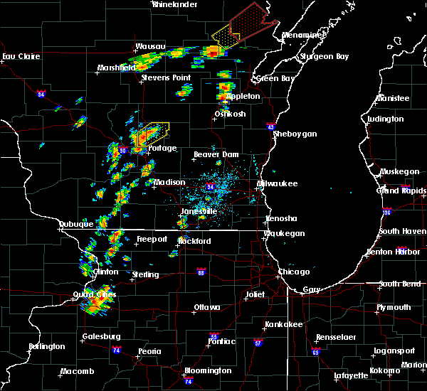 Radar Image for Severe Thunderstorms near Endeavor, WI at 7/1/2018 1:20 PM CDT