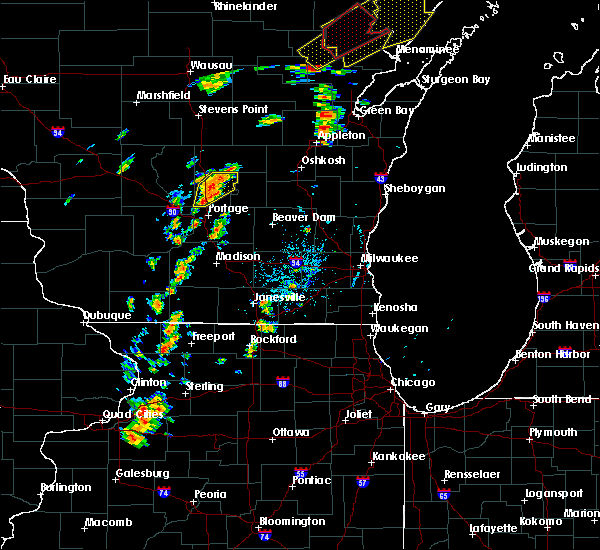 Radar Image for Severe Thunderstorms near Oxford, WI at 7/1/2018 1:29 PM CDT