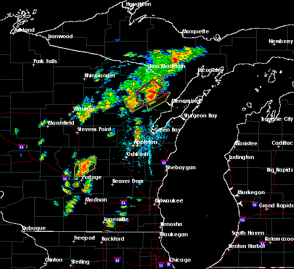 Radar Image for Severe Thunderstorms near Pembine, WI at 7/1/2018 1:30 PM CDT