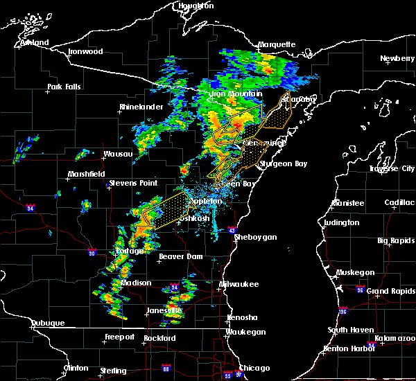 Radar Image for Severe Thunderstorms near Little Chute, WI at 7/1/2018 2:09 PM CDT