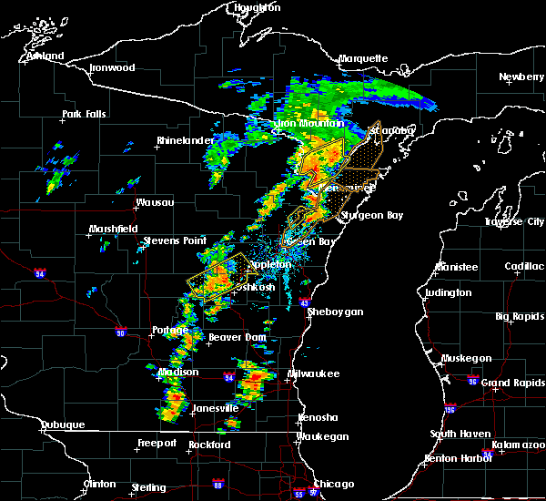 Radar Image for Severe Thunderstorms near Little Chute, WI at 7/1/2018 2:29 PM CDT
