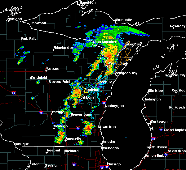 Radar Image for Severe Thunderstorms near Little Chute, WI at 7/1/2018 2:36 PM CDT