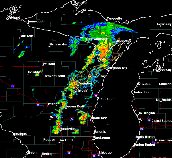 Radar Image for Severe Thunderstorms near Howard, WI at 7/1/2018 2:44 PM CDT