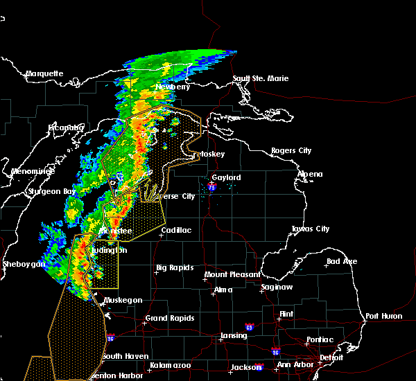 Radar Image for Severe Thunderstorms near Bendon, MI at 7/1/2018 7:14 PM EDT
