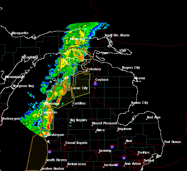 Radar Image for Severe Thunderstorms near South Boardman, MI at 7/1/2018 7:41 PM EDT