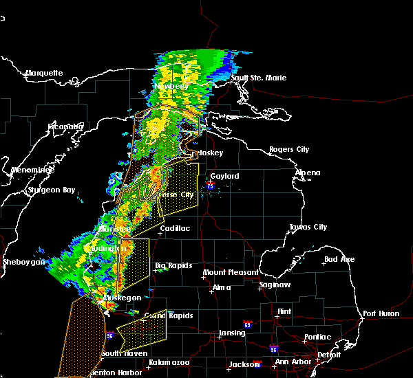 Radar Image for Severe Thunderstorms near Bendon, MI at 7/1/2018 7:57 PM EDT