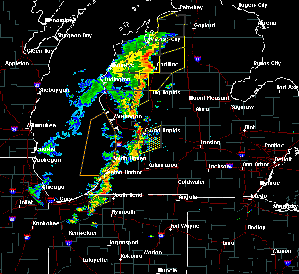 Radar Image for Severe Thunderstorms near Freeport, MI at 7/1/2018 8:21 PM EDT