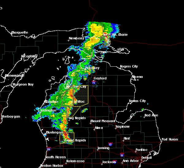 Radar Image for Severe Thunderstorms near South Boardman, MI at 7/1/2018 8:36 PM EDT
