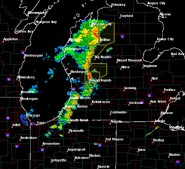 Radar Image for Severe Thunderstorms near Canadian Lakes, MI at 7/1/2018 8:39 PM EDT