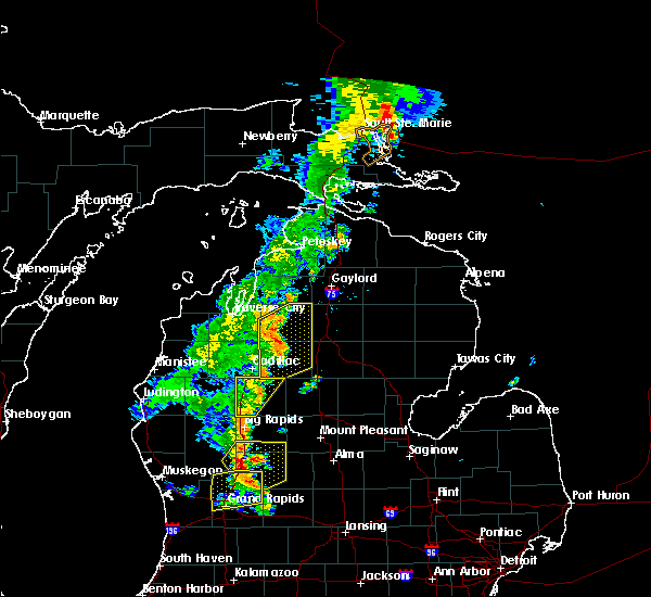 Radar Image for Severe Thunderstorms near South Boardman, MI at 7/1/2018 8:49 PM EDT