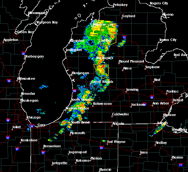 Radar Image for Severe Thunderstorms near Canadian Lakes, MI at 7/1/2018 9:04 PM EDT