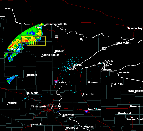 Radar Image for Severe Thunderstorms near Northome, MN at 7/1/2018 11:18 PM CDT