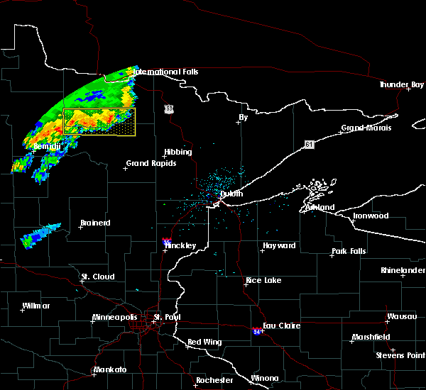 Radar Image for Severe Thunderstorms near Northome, MN at 7/1/2018 11:27 PM CDT