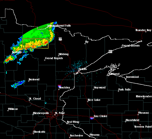 Radar Image for Severe Thunderstorms near Northome, MN at 7/1/2018 11:47 PM CDT
