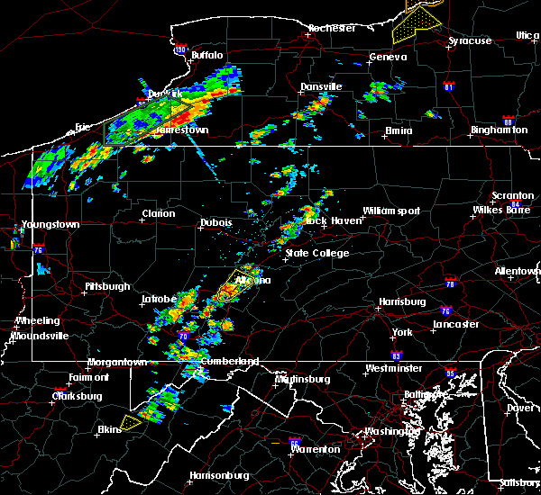 Radar Image for Severe Thunderstorms near Hollidaysburg, PA at 7/2/2018 2:51 PM EDT
