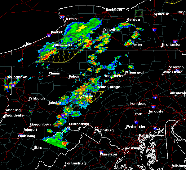 Radar Image for Severe Thunderstorms near Huntingdon, PA at 7/2/2018 4:11 PM EDT