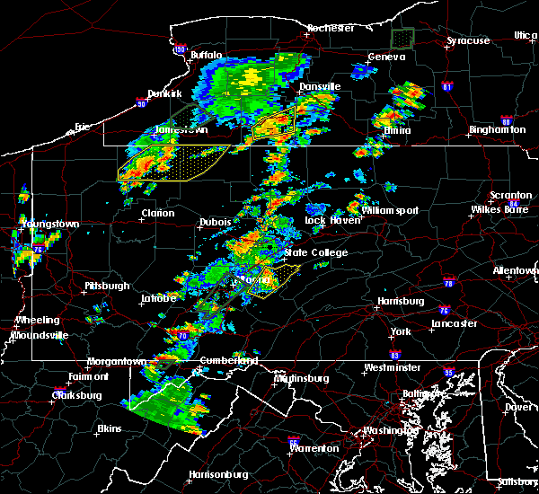 Radar Image for Severe Thunderstorms near Petersburg, PA at 7/2/2018 4:38 PM EDT