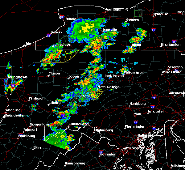 Radar Image for Severe Thunderstorms near Rew, PA at 7/2/2018 4:44 PM EDT