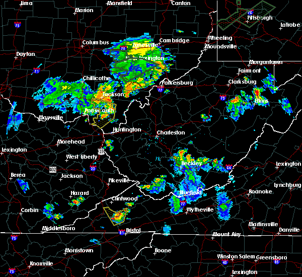 Radar Image for Severe Thunderstorms near Russell, KY at 7/2/2018 7:18 PM EDT