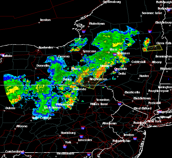 Radar Image for Severe Thunderstorms near Endicott, NY at 7/2/2018 7:30 PM EDT