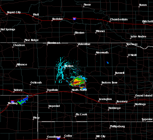 Radar Image for Severe Thunderstorms near Stapleton, NE at 7/2/2018 6:46 PM CDT