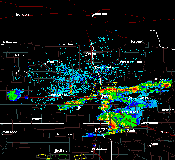 Radar Image for Severe Thunderstorms near Elbow Lake, MN at 7/2/2018 11:08 PM CDT