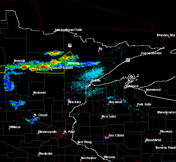 Radar Image for Severe Thunderstorms near La Prairie, MN at 7/2/2018 11:07 PM CDT