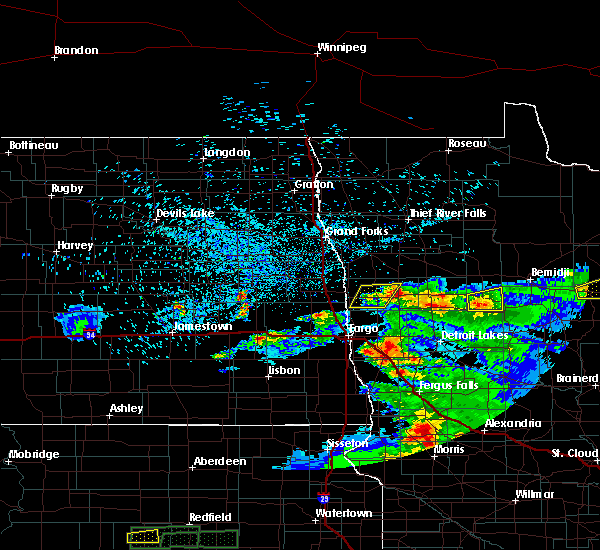 Radar Image for Severe Thunderstorms near Elbow Lake, MN at 7/2/2018 11:38 PM CDT