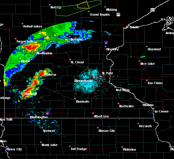 Radar Image for Severe Thunderstorms near Willmar, MN at 7/3/2018 12:33 AM CDT