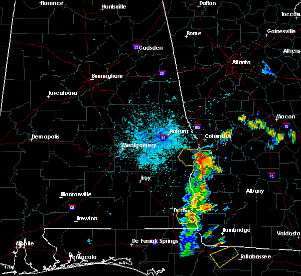 Radar Image for Severe Thunderstorms near Eufaula, AL at 7/3/2018 10:01 PM EDT