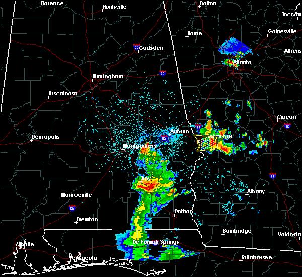 Radar Image for Severe Thunderstorms near Columbus, GA at 7/3/2018 11:51 PM EDT