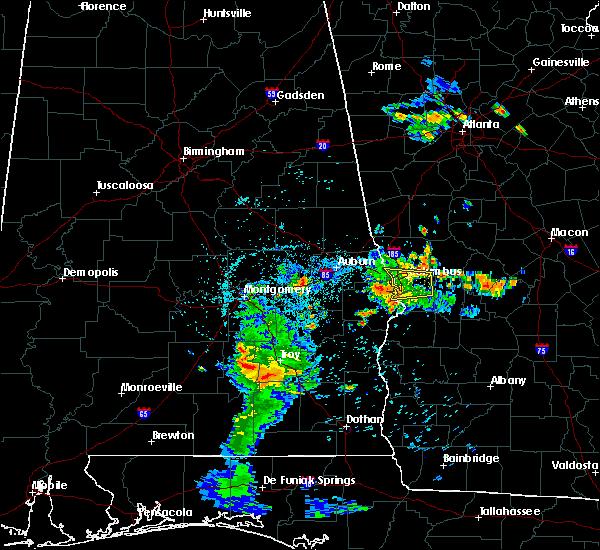 Radar Image for Severe Thunderstorms near Columbus, GA at 7/4/2018 12:28 AM EDT