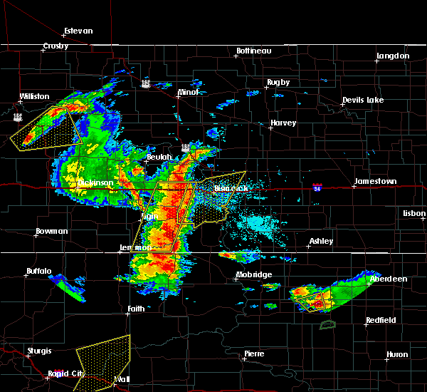 Radar Image for Severe Thunderstorms near Wing, ND at 7/3/2018 11:38 PM CDT