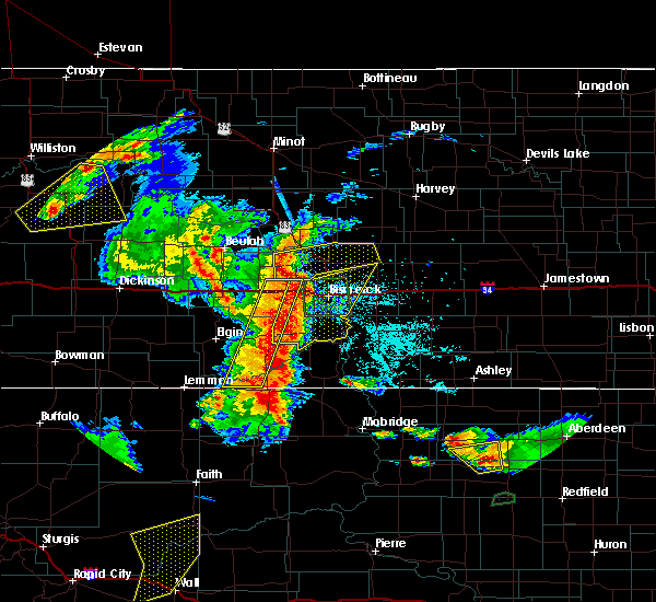 Radar Image for Severe Thunderstorms near Wing, ND at 7/3/2018 11:49 PM CDT