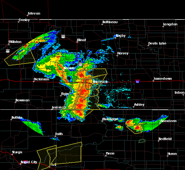 Radar Image for Severe Thunderstorms near Wing, ND at 7/3/2018 11:59 PM CDT