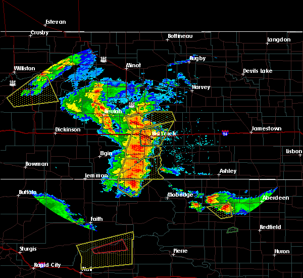 Radar Image for Severe Thunderstorms near Wing, ND at 7/4/2018 12:05 AM CDT